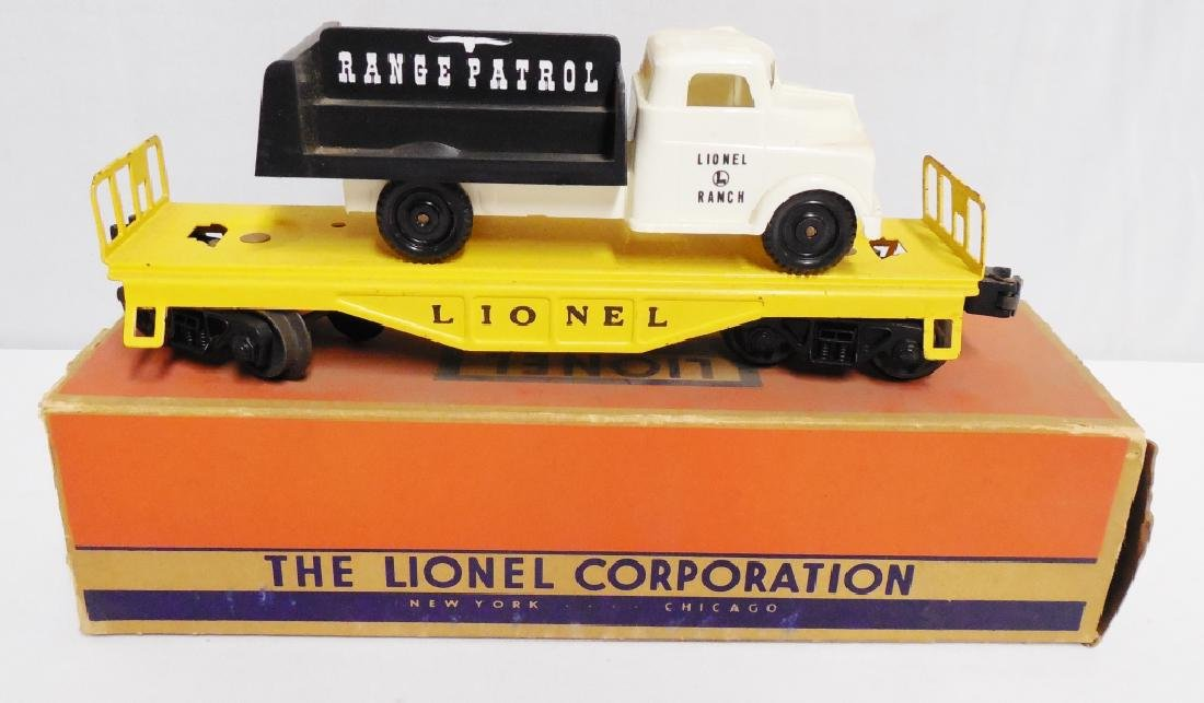 Lionel No 6151 Flat Car with Range Patrol Truck - 2