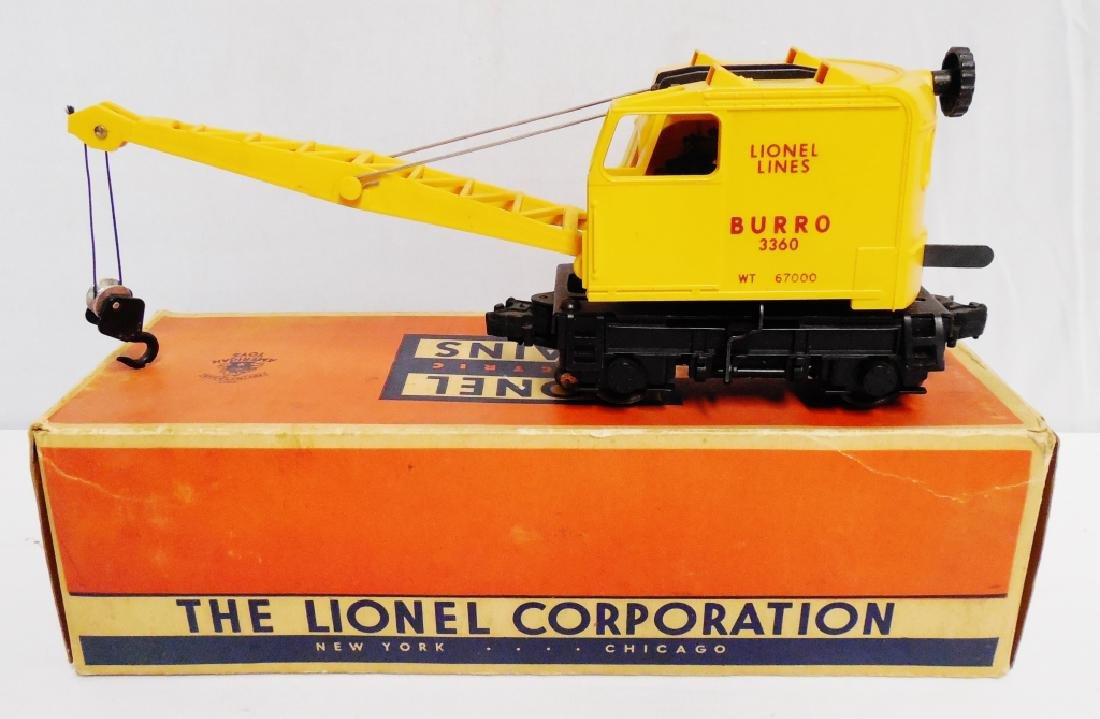 Lionel No 3360 Operating Burro Crane