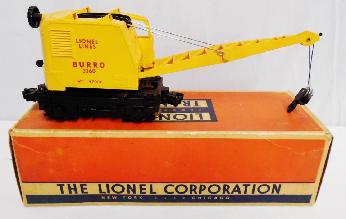 Lionel No 3360 Operating Burro Crane - 2