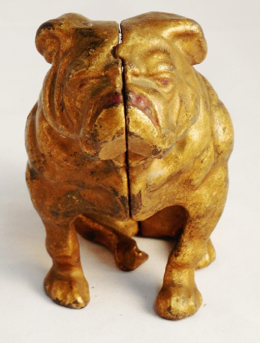Cast Iron Bull Dog Bank
