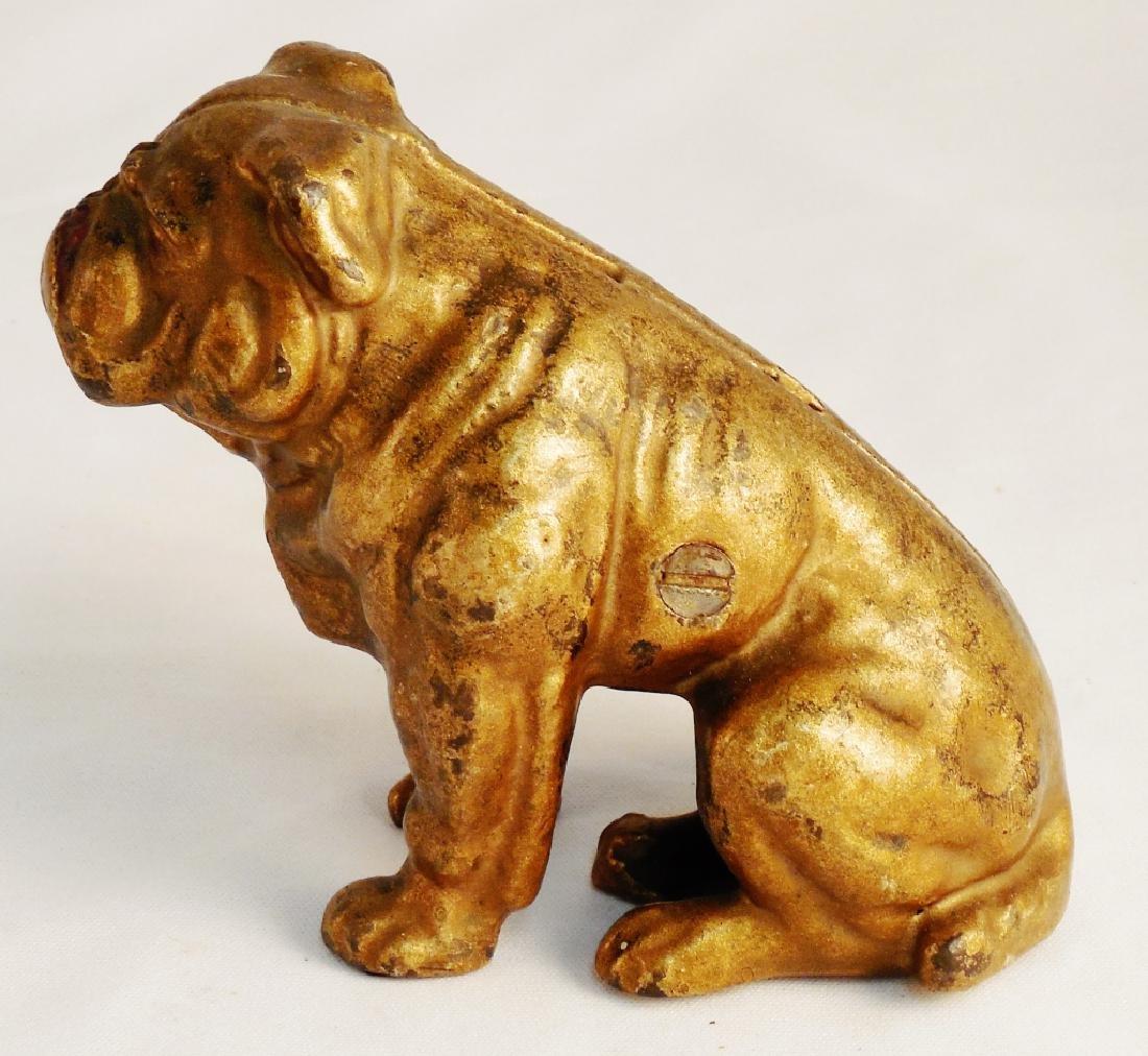 Cast Iron Bull Dog Bank - 2