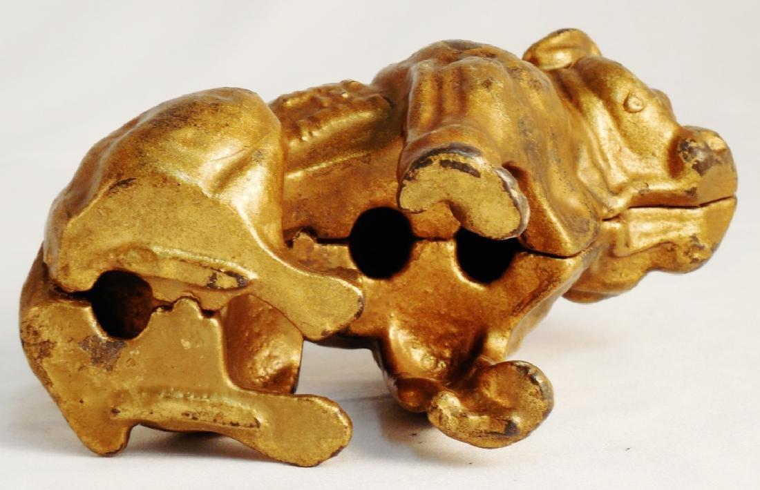 Cast Iron Bull Dog Bank - 4
