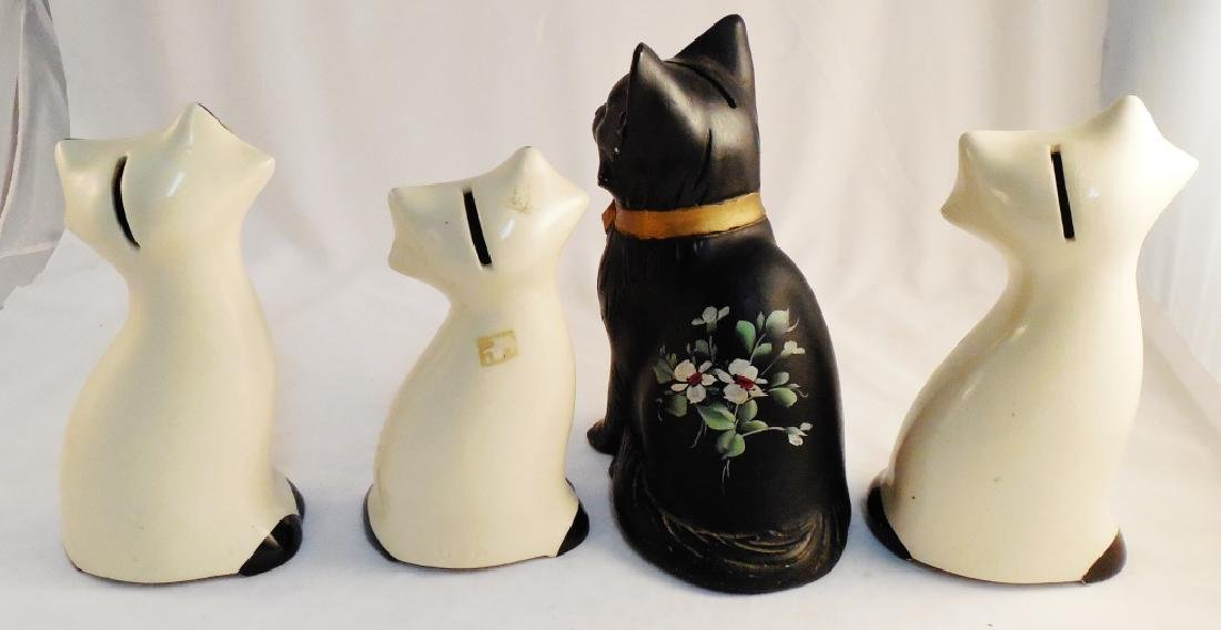 Lot of 4 Cat Banks - 2