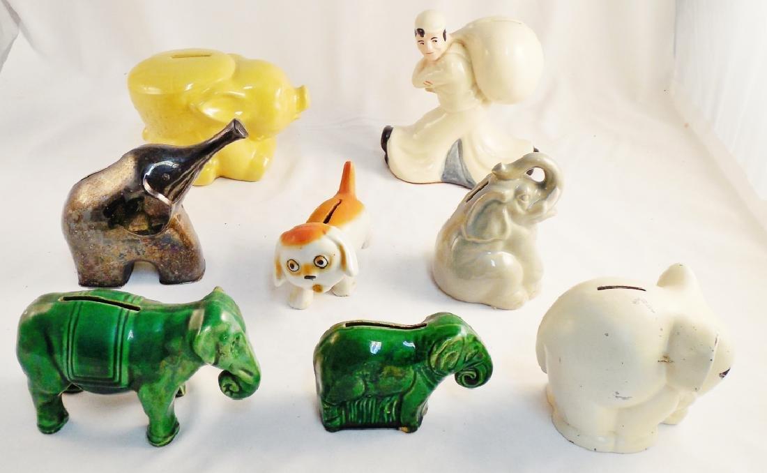 Lot of 8 Ceramic Banks