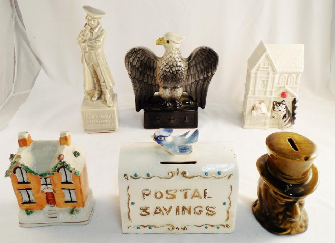 Lot of 6 Ceramic Banks