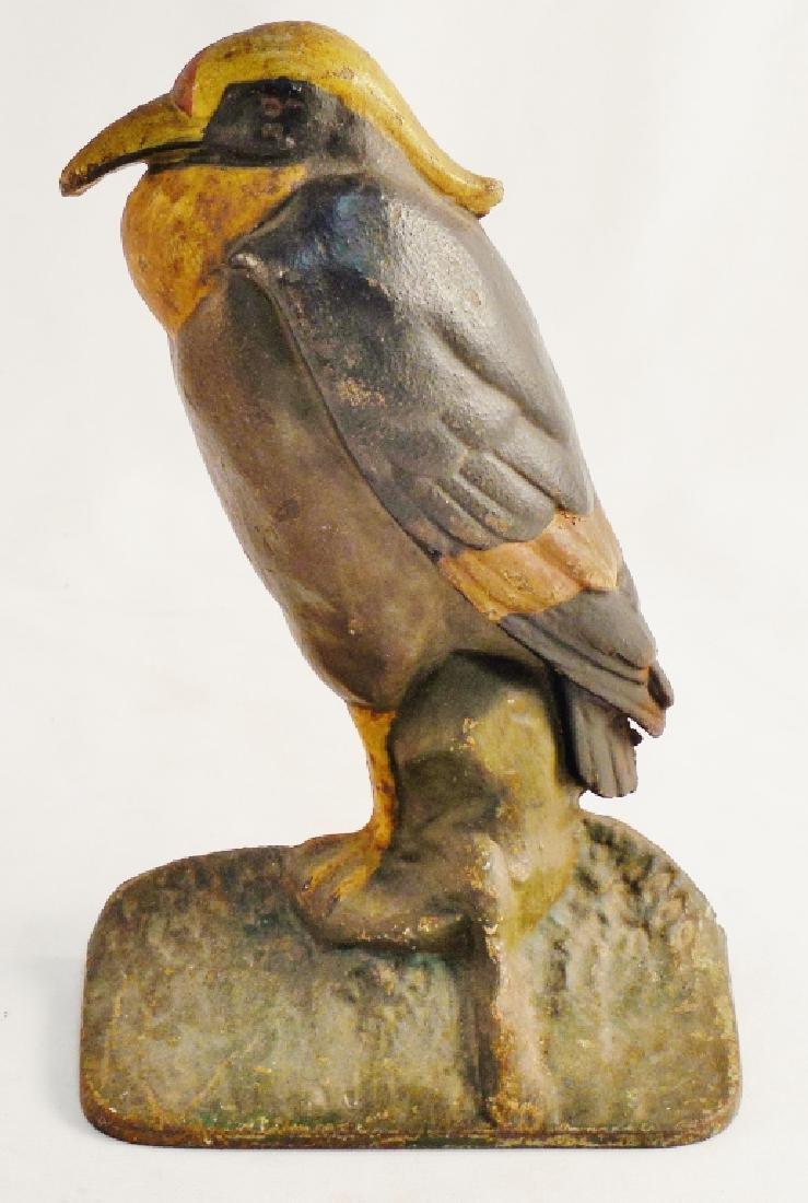 Cast Iron Doorstop Exotic Bird