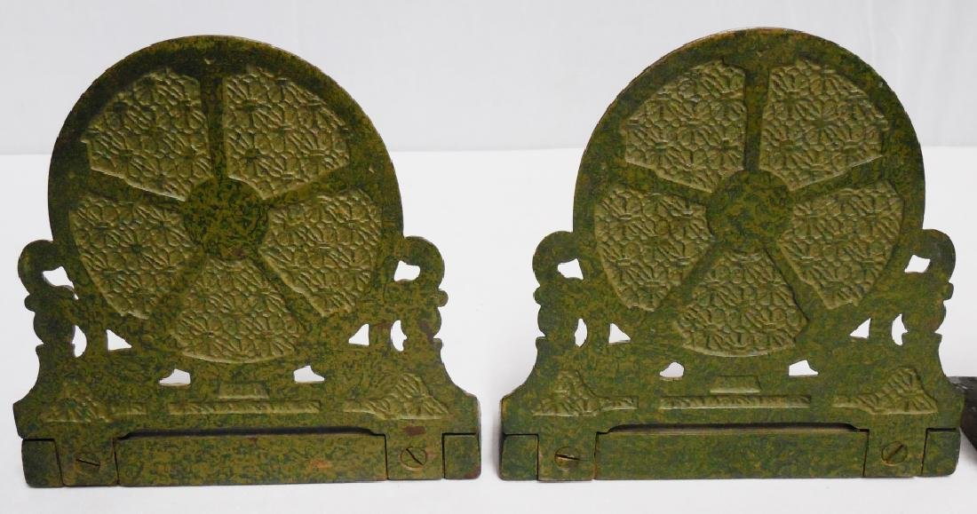 Lot of 3 Pairs of Cast Iron Bookends - 3