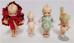 Lot of 4 Bisque Kewpie Dolls