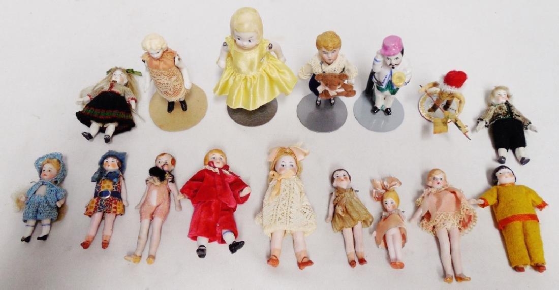 Lot of 16 Miniature Dolls