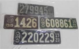 Lot of 4 Ohio License Plates