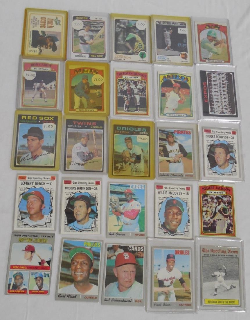 Lot of 50 Vintage Sports Cards 1960s to 1980s