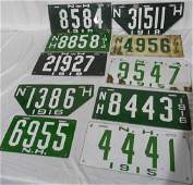 Lot of 18 New Hampshire License Plates