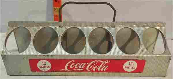 Coca-Cola 12 bottle aluminum carrier - No bottles