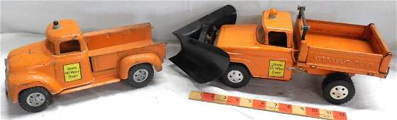 2 Tonka State Hi-way Dept Trucks - Pickup & Plow