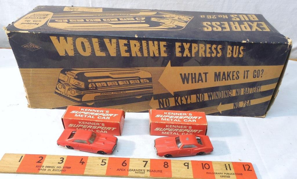 Wolverine Express Bus Box and 2 Kenner's Car's
