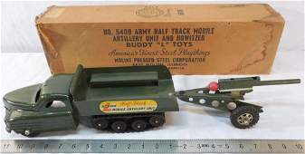 Buddy L No 5409 Half Track and Howitzer w Box