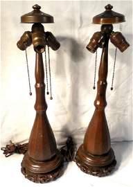 Pair of Handel Lamps 24'' Tall