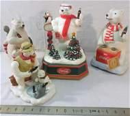 4 Coca-Cola Polar Bear Collectibles