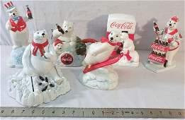 6 Coca-Cola Polar Bear Collectibles see photos