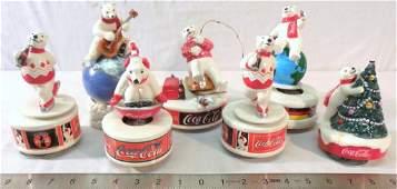7 Coca-Cola Polar Bear Music Boxes