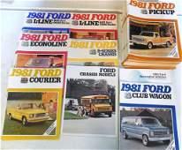 Brochures Approx. 100+ Ford Vans/ Trucks