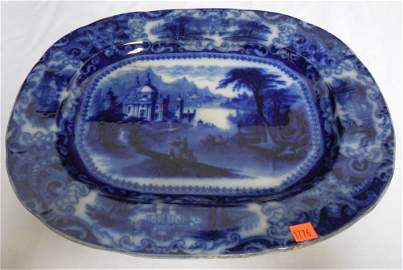 Flow Blue Platter 17''