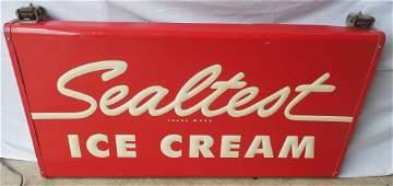Sealtest Ice Cream Sign Metal 2 Sides 26'' H x 48'' W