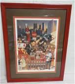Coca Cola Signed Print Paul Miller 1990 Framed 24''; x