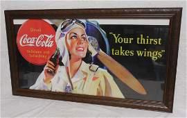 Coca -Cola Framed Print Contemporary Framed 21'' x 39''