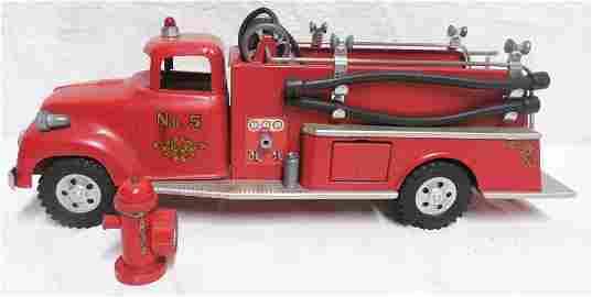 Tonka Fire Truck No.5 With Hydrant / Hoses Nice