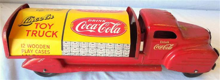 Lincoln Coca- Cola Truck with Wooden Cases see photos