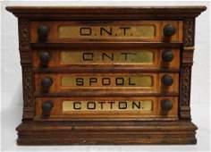 Clark O.N.T. Thread Co. cabinet cabinet shows wear, 23