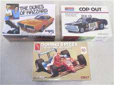 3 model kits AMT Dominos Pizza March 88C MPC Dukes of