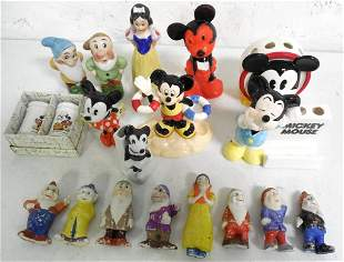 Snow White 7 Dwarfs/ Mickey Mouse figurines and