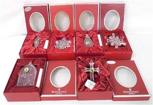 6 Waterford Crystal Christmas ornaments w/ boxes &