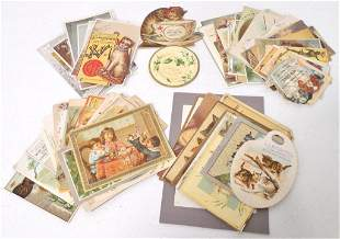 lot of assorted trade cards various conditions
