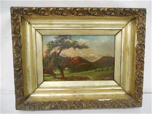 Oil on Canvas Mountain Scene Signed 13'' x 16''  Pick