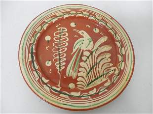Redware Bowl / Mexico Plate Contemporary