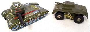lot of 2 tin tanks: one Marx, one Daiya