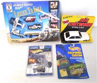 lot of 4 Hot Wheels, Matchbox & Ertl Cars & sets