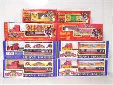 lot of 8 K-Line Ringling Bros haulers & train cars