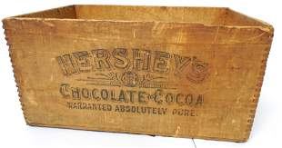 Hershey's Chocolate and Cocoa Wooden box