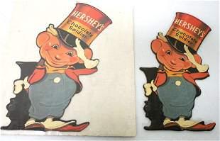 Lot of 2 Cardboard Hershey's Chocolate Soldier