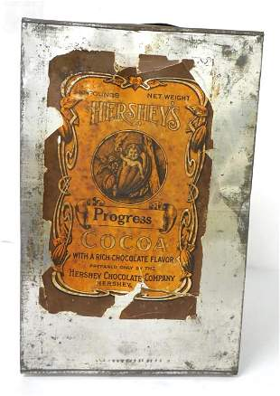 Hershey's Progress Cocoa tin can