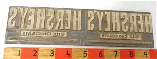 Tin,Hershey's label printers block