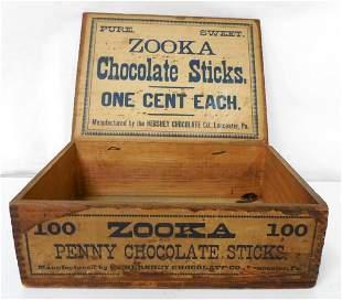 Zooka Chocolate Sticks Wooden Box