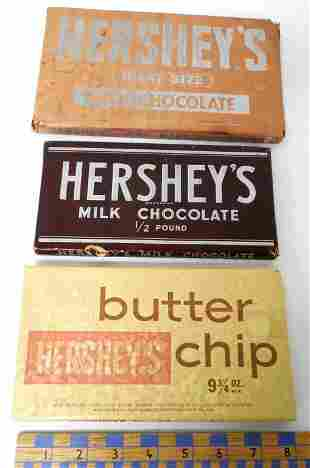 Lot of 3,Hershey's Advertising Dummy Bars