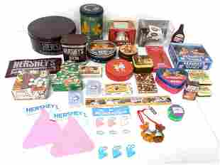 Lot of 30,Assorted Hershey Tins,Boxes,Toys