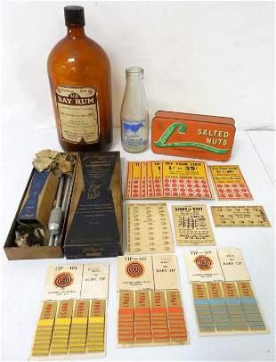 Lot of 17,Adv Bottles,Tin,Cardboard