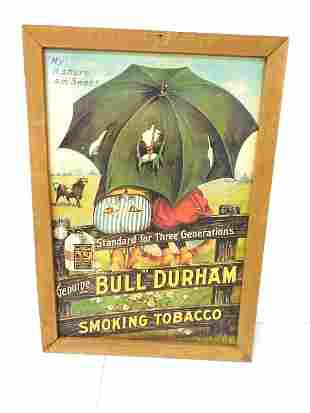 Contemporary Bull Durham Framed Picture